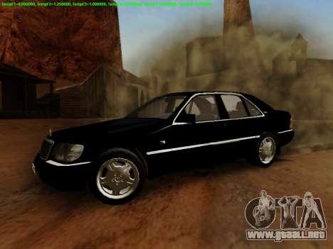 Mercedes-Benz W140 para GTA San Andreas left