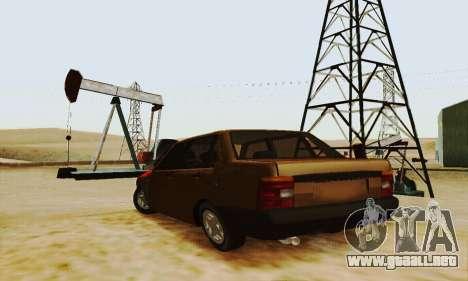 Fiat Duna para GTA San Andreas vista posterior izquierda