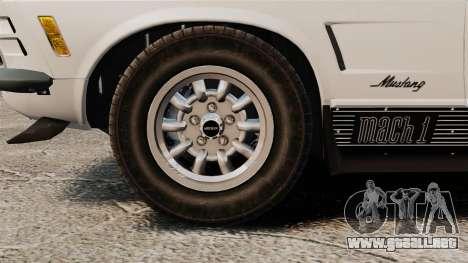 Ford Mustang Mach 1 Twister Special para GTA 4 vista hacia atrás