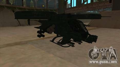 AT-99 Scorpion Gunship from Avatar para GTA San Andreas left