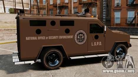 Lenco Bearcat blindados LSPD GTA V para GTA 4 left