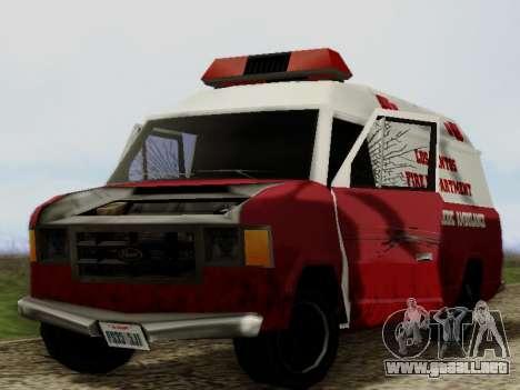 Vapid Ambulance 1986 para visión interna GTA San Andreas