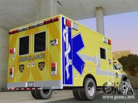 Dodge Ram Ambulance BCFD Paramedic 100 para la visión correcta GTA San Andreas