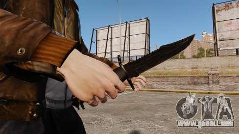 El cuchillo de Alabama Slammer negro para GTA 4 segundos de pantalla