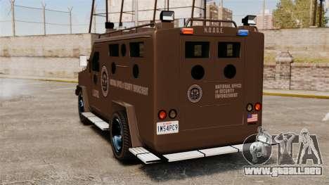 Lenco Bearcat blindados LSPD GTA V para GTA 4 Vista posterior izquierda