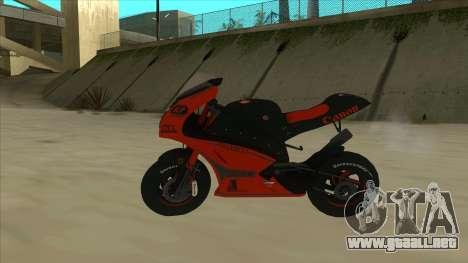 RP Motorsport Yamaha M1 para GTA San Andreas left