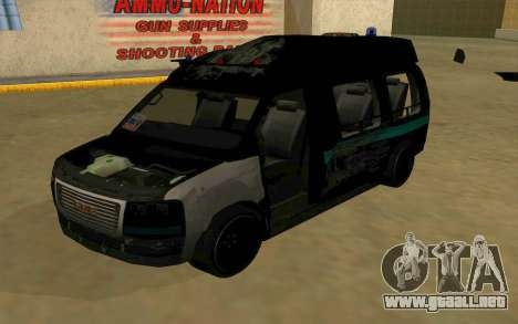 GMC Savana AWD FSB para vista lateral GTA San Andreas