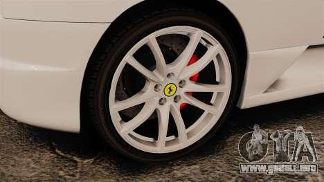 Ferrari F430 Scuderia 2007 Italian para GTA 4 vista hacia atrás
