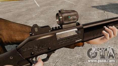 Táctica escopeta Fabarm SDASS fuerzas Pro v2 para GTA 4 adelante de pantalla