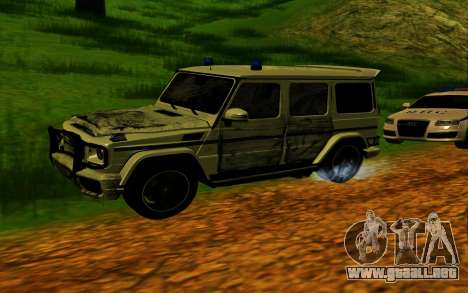 Mercedes-Benz G65 AMG 2013 para vista inferior GTA San Andreas