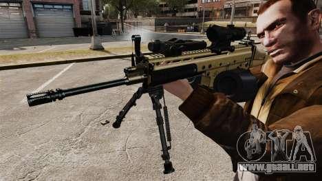 Máquina de asalto FN SCAR-L para GTA 4 adelante de pantalla