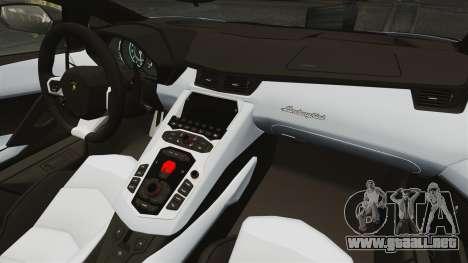 Lamborghini Aventador LP700-4 2012 EPM para GTA 4 Vista posterior izquierda