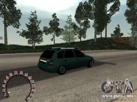 1117 Lada Kalina para GTA San Andreas vista hacia atrás
