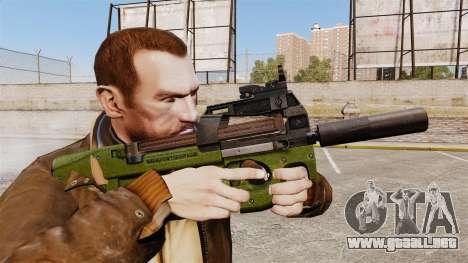 Belga FN P90 subfusil ametrallador v2 para GTA 4