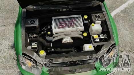 Subaru Impreza 2005 DTD Tuned para GTA 4 vista interior