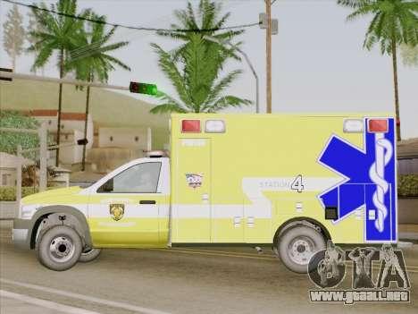Dodge Ram Ambulance BCFD Paramedic 100 para visión interna GTA San Andreas