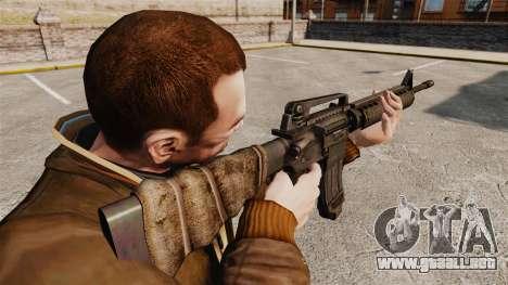 Un rifle de asalto estadounidense M16A4 para GTA 4 segundos de pantalla