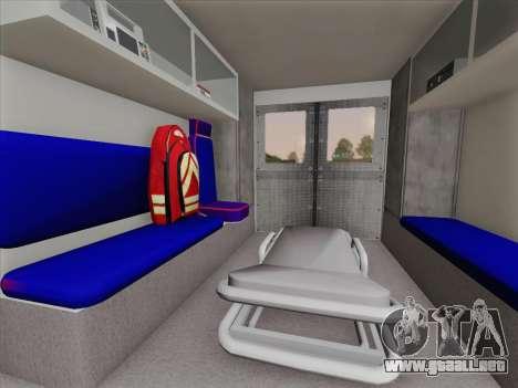 Dodge Ram Ambulance BCFD Paramedic 100 para GTA San Andreas interior