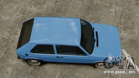 Volkswagen Golf MK1 GTI ToneBee EDITED para GTA 4 visión correcta