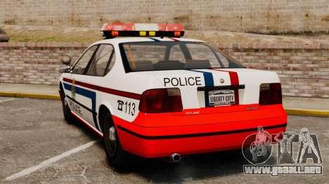 Policía de Luxemburgo para GTA 4 Vista posterior izquierda