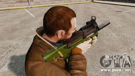 Belga FN P90 subfusil ametrallador v2 para GTA 4 segundos de pantalla