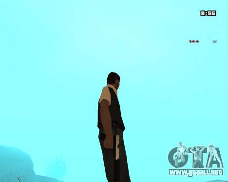 White Chrome Silenced para GTA San Andreas tercera pantalla