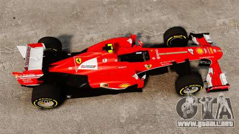 Ferrari F138 2013 v5 para GTA 4 visión correcta