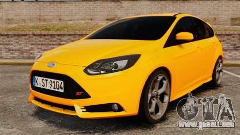 Ford Focus ST 2013 para GTA 4