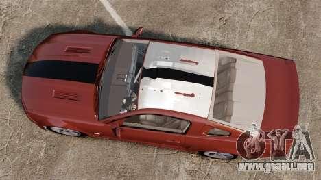 Ford Mustang Saleen SA-25 2008 para GTA 4 visión correcta