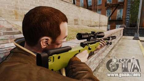AW L115A1 rifle de francotirador con un silencia para GTA 4
