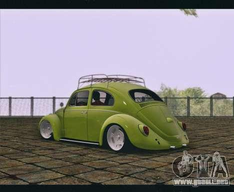 Volkswagen Beetle 1966 para GTA San Andreas left