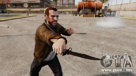 El cuchillo de Alabama Slammer negro para GTA 4 tercera pantalla