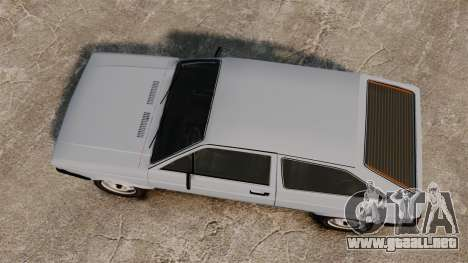Volkswagen Gol LS 1986 para GTA 4 visión correcta