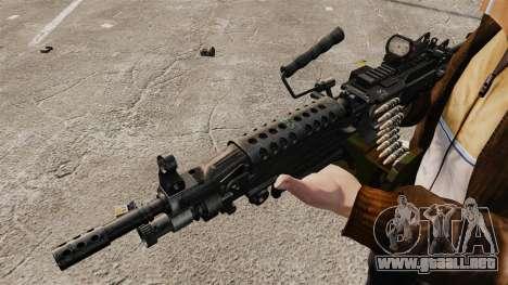 Ametralladora ligera M249 vi para GTA 4 adelante de pantalla