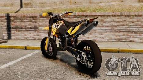 KTM EXC 450 SuperMotard para GTA 4 left