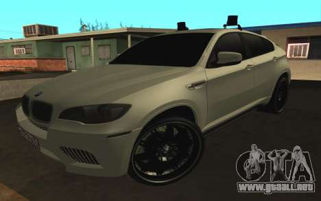 BMW x 6 M con destellar las luces PPP para GTA San Andreas left