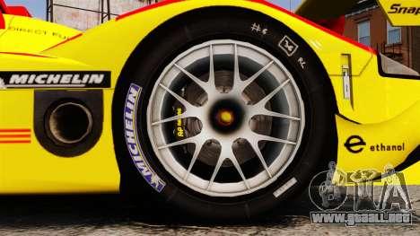 Porsche RS Spyder Evo para GTA 4 vista hacia atrás