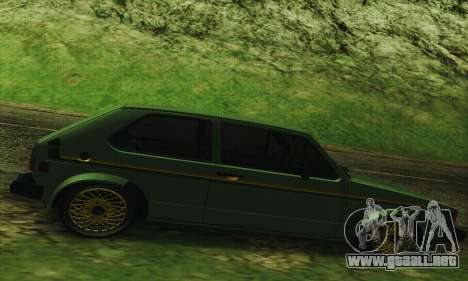 Volkswagen Rabbit GTI 1986 Cult Style para GTA San Andreas left