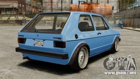 Volkswagen Golf MK1 GTI ToneBee EDITED para GTA 4 Vista posterior izquierda