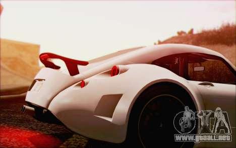 Wiesmann GT MF5 2010 para la vista superior GTA San Andreas
