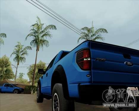 Ford F-150 SVT Raptor 2011 para la visión correcta GTA San Andreas