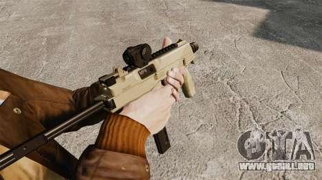 MP9 subfusil ametrallador táctico v4 para GTA 4 segundos de pantalla