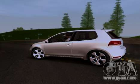 Volkswagen Golf 6 GTI para visión interna GTA San Andreas