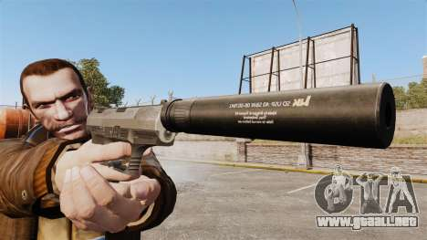 Walther P99 pistola semi-automática v2 para GTA 4 tercera pantalla