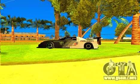 Infernus Rally Moster Energy 2012 para GTA San Andreas vista posterior izquierda