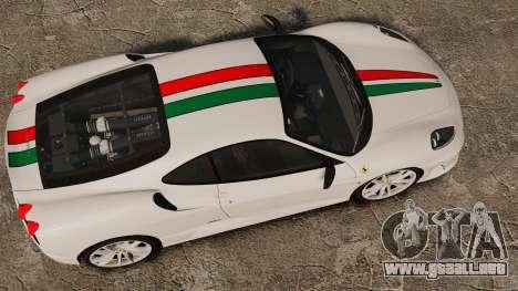 Ferrari F430 Scuderia 2007 Italian para GTA 4 visión correcta