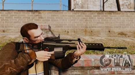 Rifle de asalto MG36 v4 H & K para GTA 4