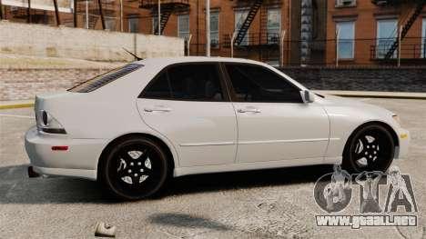 Lexus IS300 para GTA 4 left