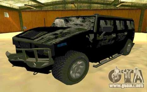 Hummer H2 para vista inferior GTA San Andreas