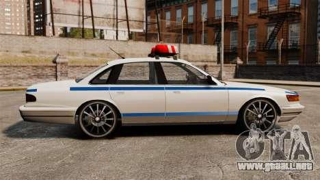 Policía en un unidades de 20 pulgadas para GTA 4 left